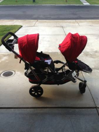 Kolcraft Contours Options Tandem Double Stroller, LIKE NEW - $180 (Stockton Manteca)