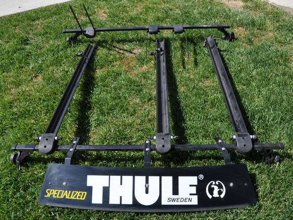 THULE BICYCLE RACKS WITH GUTTER MOUNT TOWERS 58 CROSSBARS - $195 (Simi Valley)