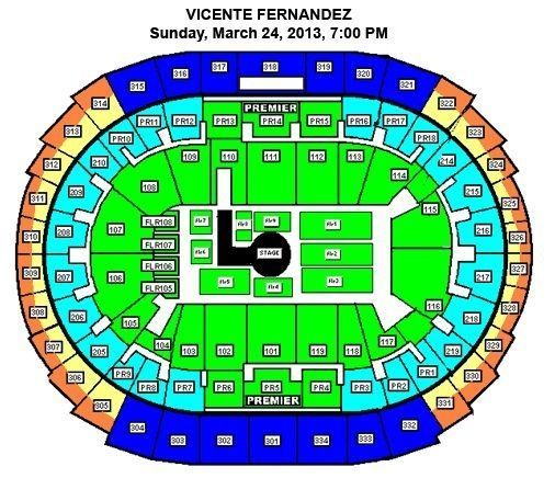 VICENTE FERNANDEZ -Staples Concert on 3242013 - $150 (Staples Center)