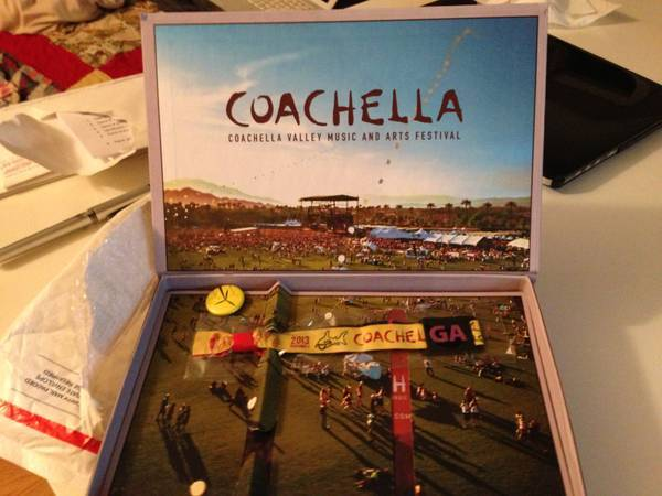 1 COACHELLA WEEKEND 2 WRISTBAND FOR 445$ COMES WITH BOX AND RECIEPT - $445 (VENTURA THOUSANDOAKS AGOURA)