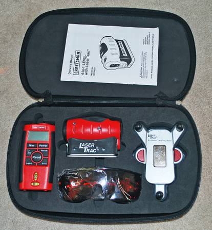 CRAFTSMAN 4-IN-1 LEVEL WITH LASER TRAC WALL-MOUNT MARKING LEVELING B - $20 (Thousand Oaks)