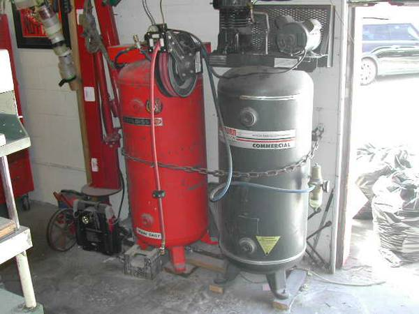 DeVilbiss Sanborn 120 gallon air compressor unit - $350 (Ventura)