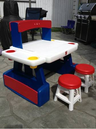 Kids art table desk (Step 2) - $75 (Oxnard (near harbor))