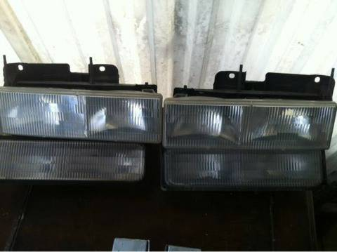 GM headlights clear 88-99 silverado and GMC... - $50