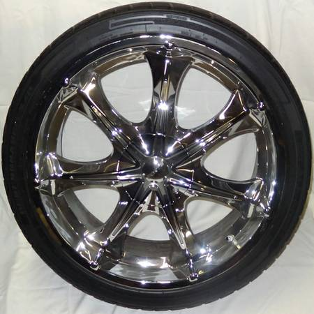 Set of 22 Rims and Tires for Dodge Charger, Magnum, Chrysler 300 300C - $500 (Oxnard, CA)