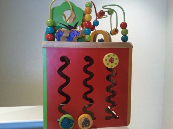 Zany Zoo Wooden Activity Cube - $30 (CAMARILLO)