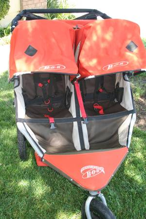 BOB Duallie (Double Stroller) with Car Seat AdaptorSnack Tray - $400 (Camarillo)