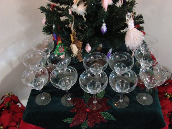 Princess House Margarita Glasses (12) - $80 (Oxnard)