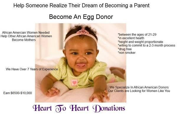 African American Egg Donors Needed Earn up to $10,000