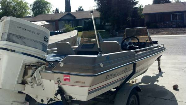 16 ft Bayliner Bass Fishing Boat 85 Hp with Trailer - $2200 (Visalia)