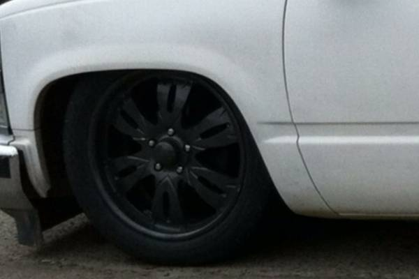 20 inch rims and tires 250.00 got to go asap - $250 (porterville)