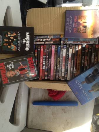 All of tom cruise movies dvd - $35 (Exeter)