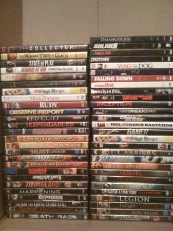 Lot of 54 DVD movies in great condition - $80 (Porterville)