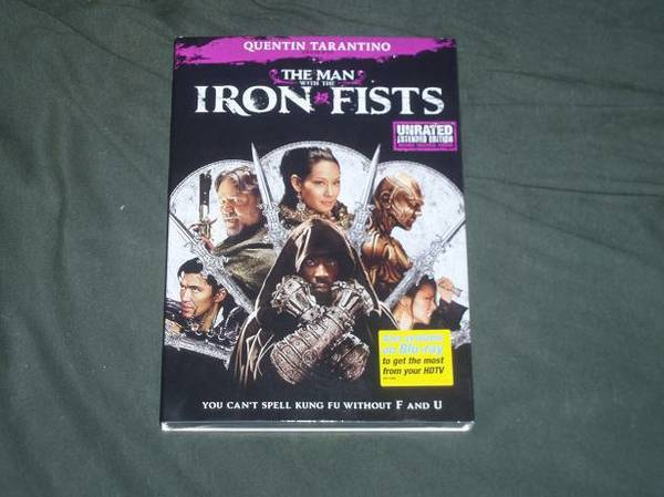New The Man with the Iron Fists DVD Movie. - $12 (Springville,CA)