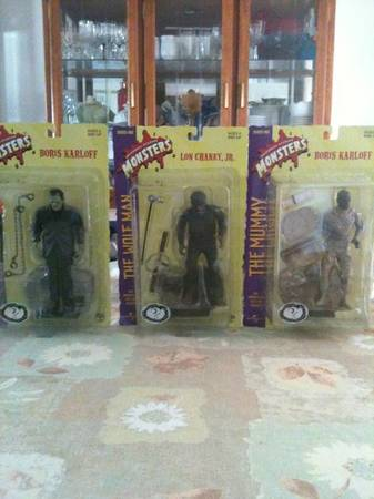 Universal Studios movie monsters figures. Full set of 12 new in boxes. - $300 (Visalia)