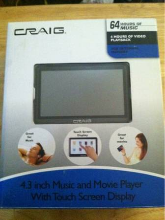 Craig music movie player - $40 (Visalia)