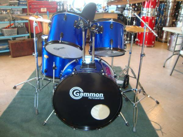 Gammon Percussion Drums, with Cymbals and Hardware. - $285 (Lemoore)