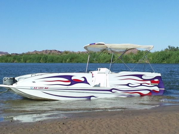 2002 Cheetah Deck Boat, Fast Cat, May Trade, Make Offer - $33500 (Yuma Martinez Lake)