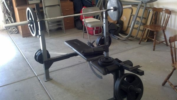 Weight Bench and Weights - $350