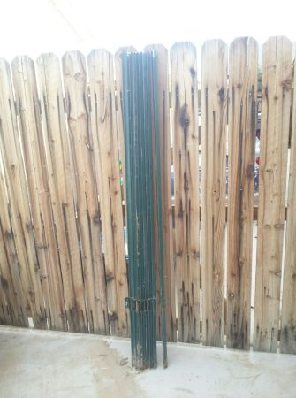Green Metal Fence Landscape Engineer Stakes - $20 (Foothills)