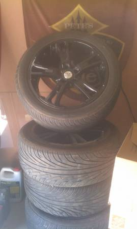 18inch black wheels. - $450 (ocotillo)