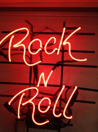 ROCK AND ROLL NEON SIGN - Remember The 1950s (Yuma, Az.)