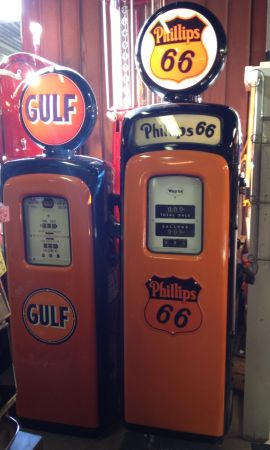 Gas Pump Restored to your Colors, Logo (Yuma, Az.)